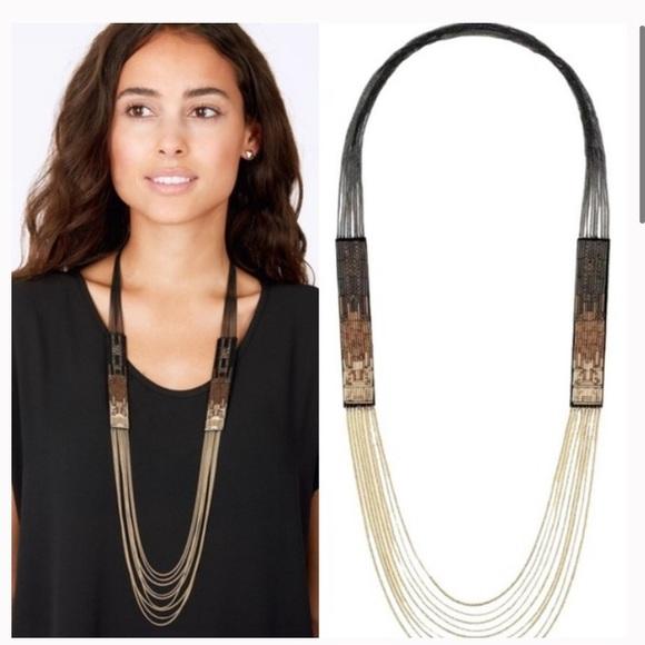 Stella & Dot jasper ombre necklace